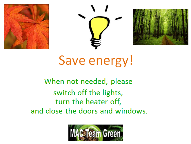 Energy Saving Campaign : Campaign mac team green s page