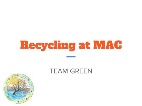 2017 Recycling presentation