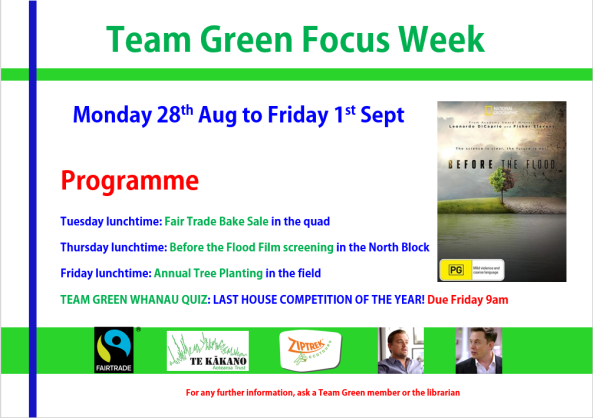Team Green Focus week