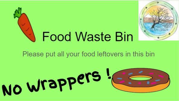 Food waste bin poster