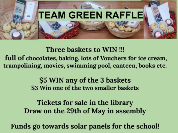Team green raffle