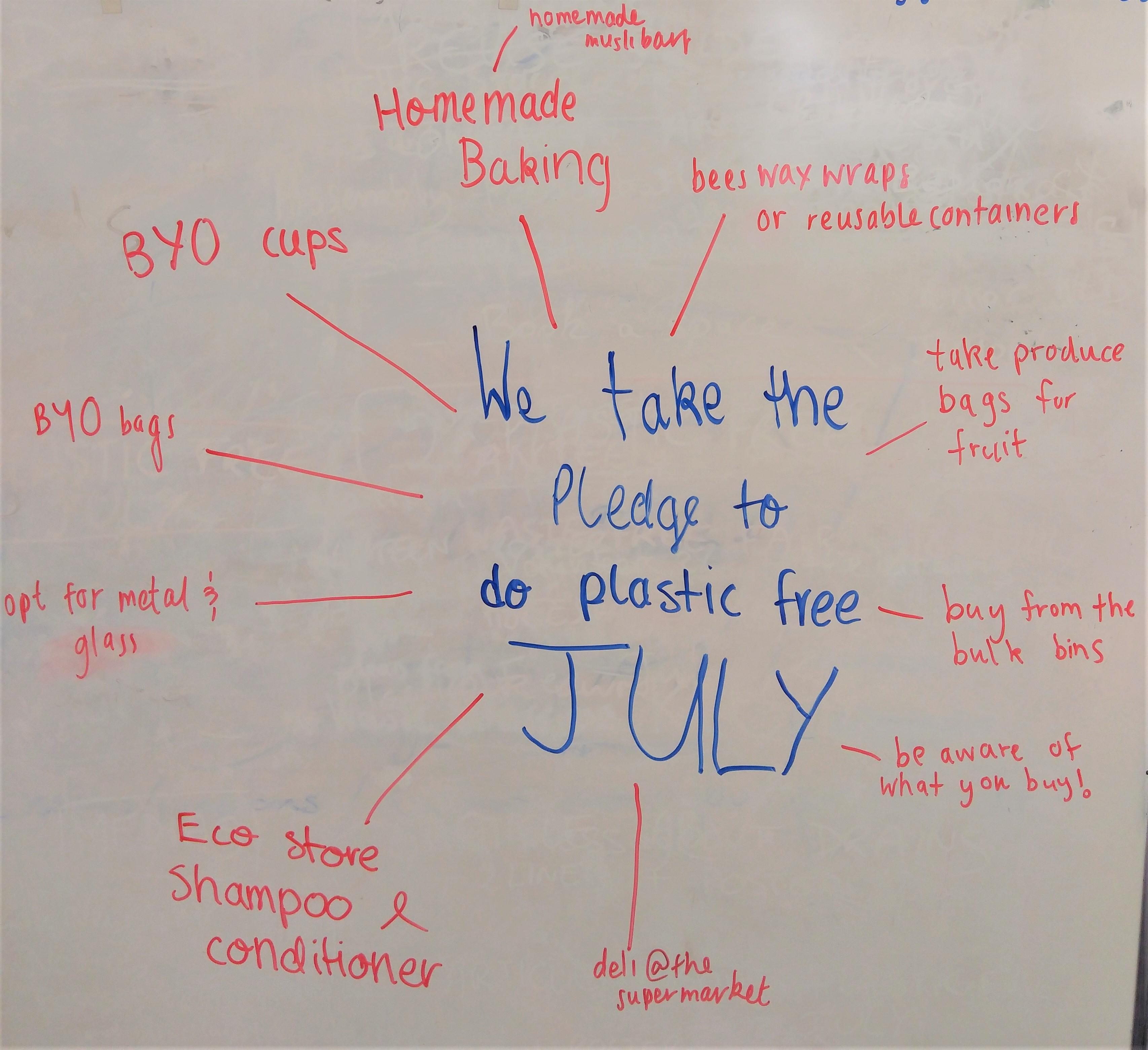 Plastic Free July pledge